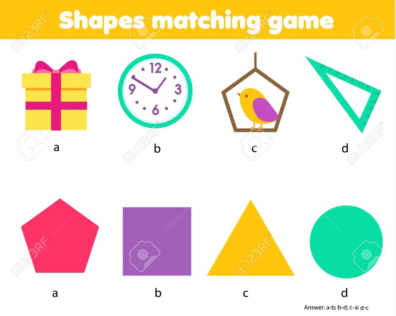 Educational children game. Matching game worksheet for kids...
