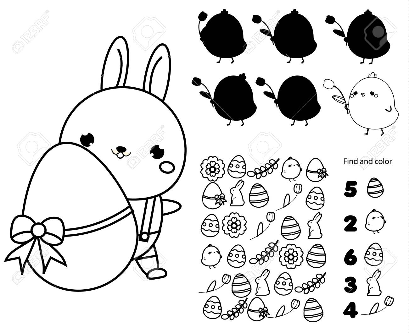 image about I Spy Printable Worksheets referred to as Easter match web site for youngsters. Enlightening kids match preset