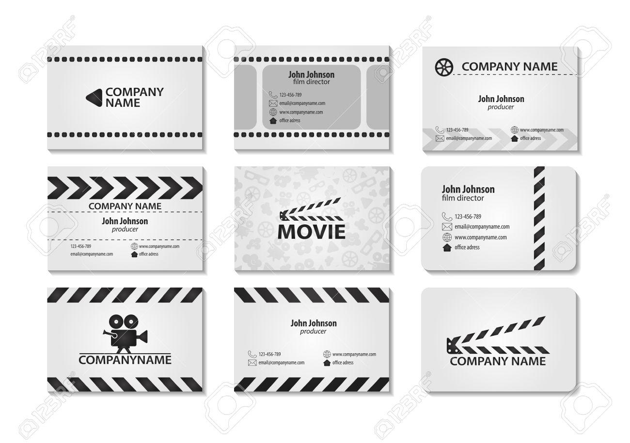 Vector Reihe Von Kreativen Visitenkarten. Karten Für Film ...
