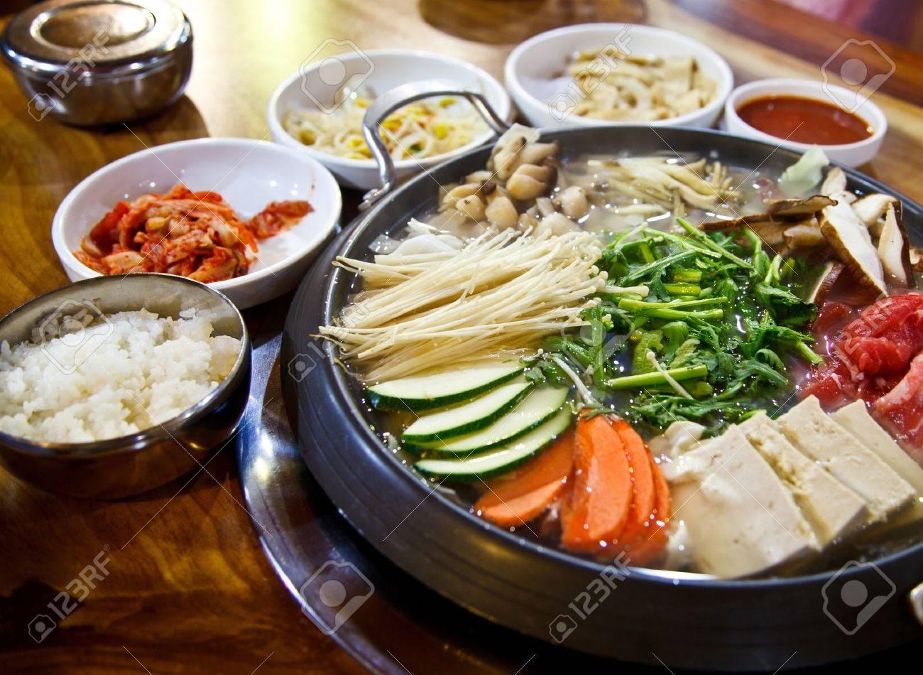 Happy with Korea food Stock Photo - 16854179