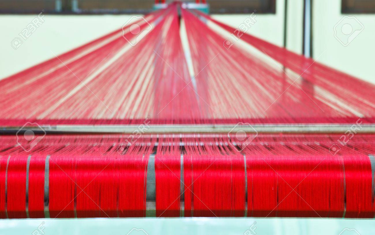 Loom for weaving silk in Thailand Stock Photo - 17113141