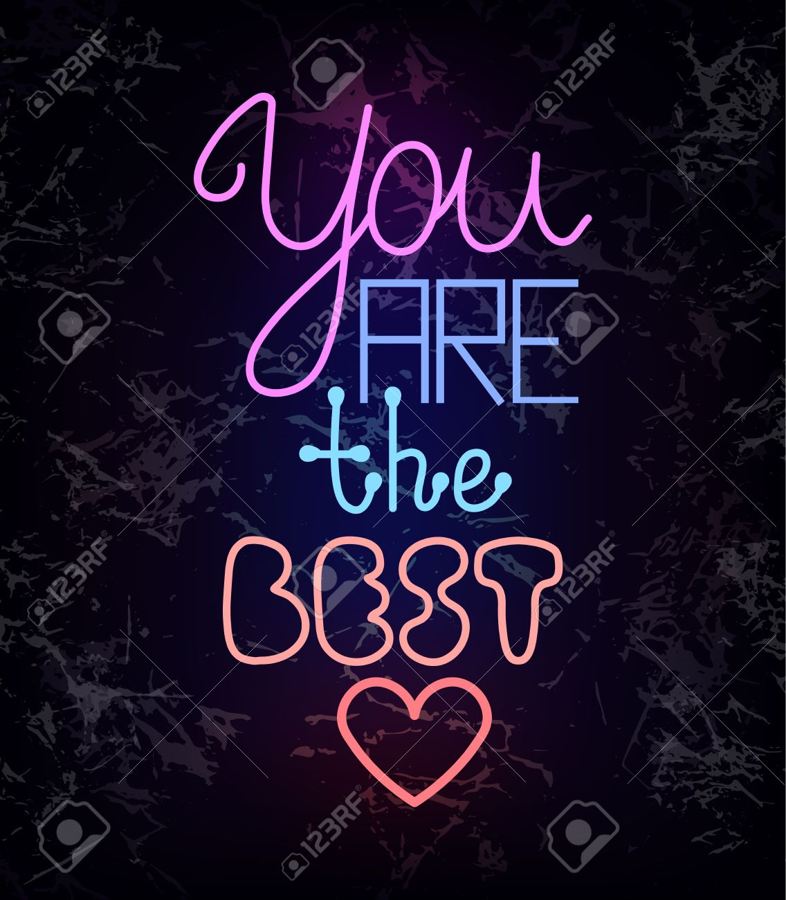 You Are The Best, Colorful Glowing Neon Light Wire Lettering ...