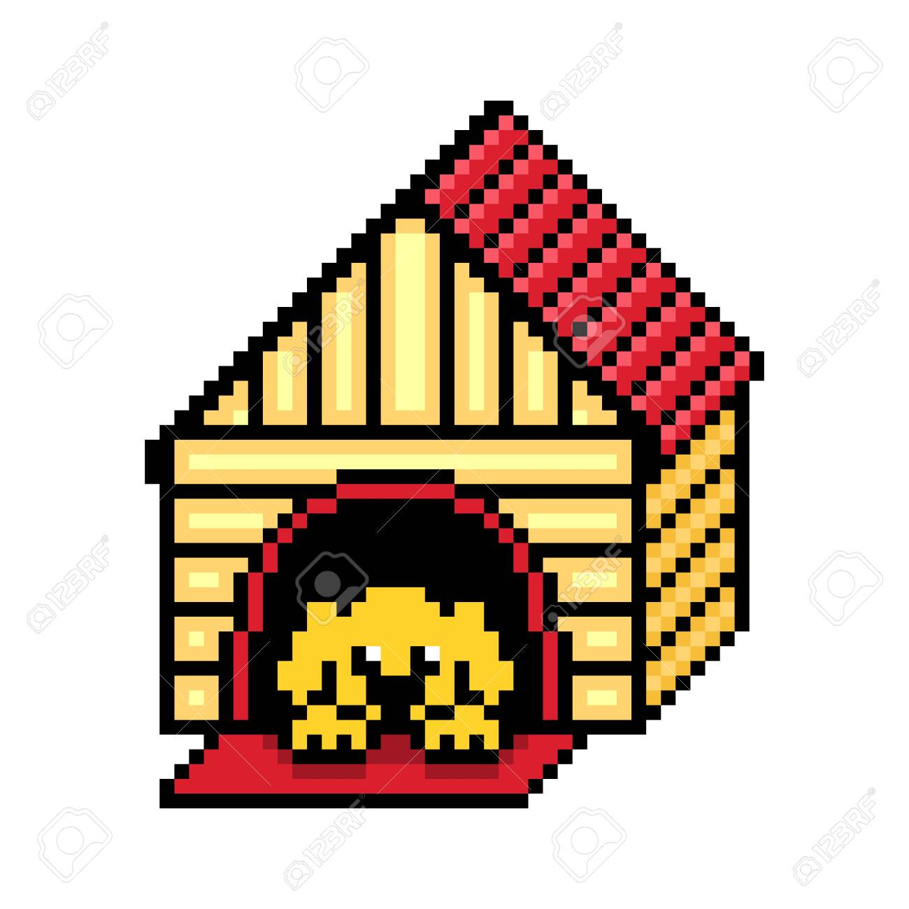 Dog Lying In A Wooden Doghouse With A Red Roof Black Outline Royalty Free Cliparts Vectors And Stock Illustration Image 141067989