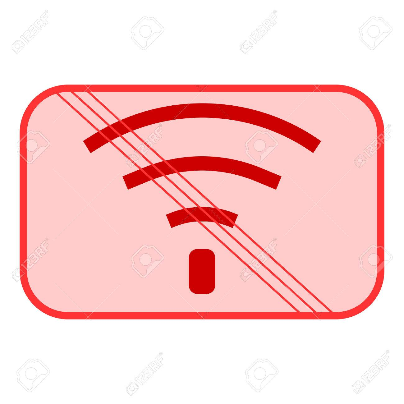 No Wifi Sign Bad Internet Connection Signal Antenna Wireless Network Diagram