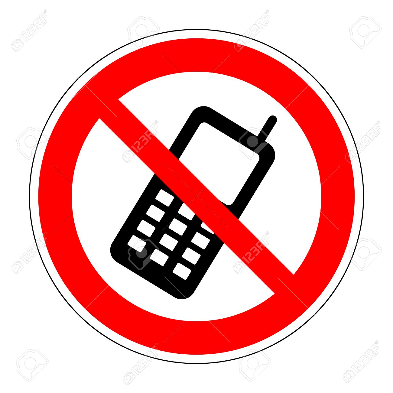 No Phone Sign. No Phone Icon Great For Any Use. Vector No Cell ...