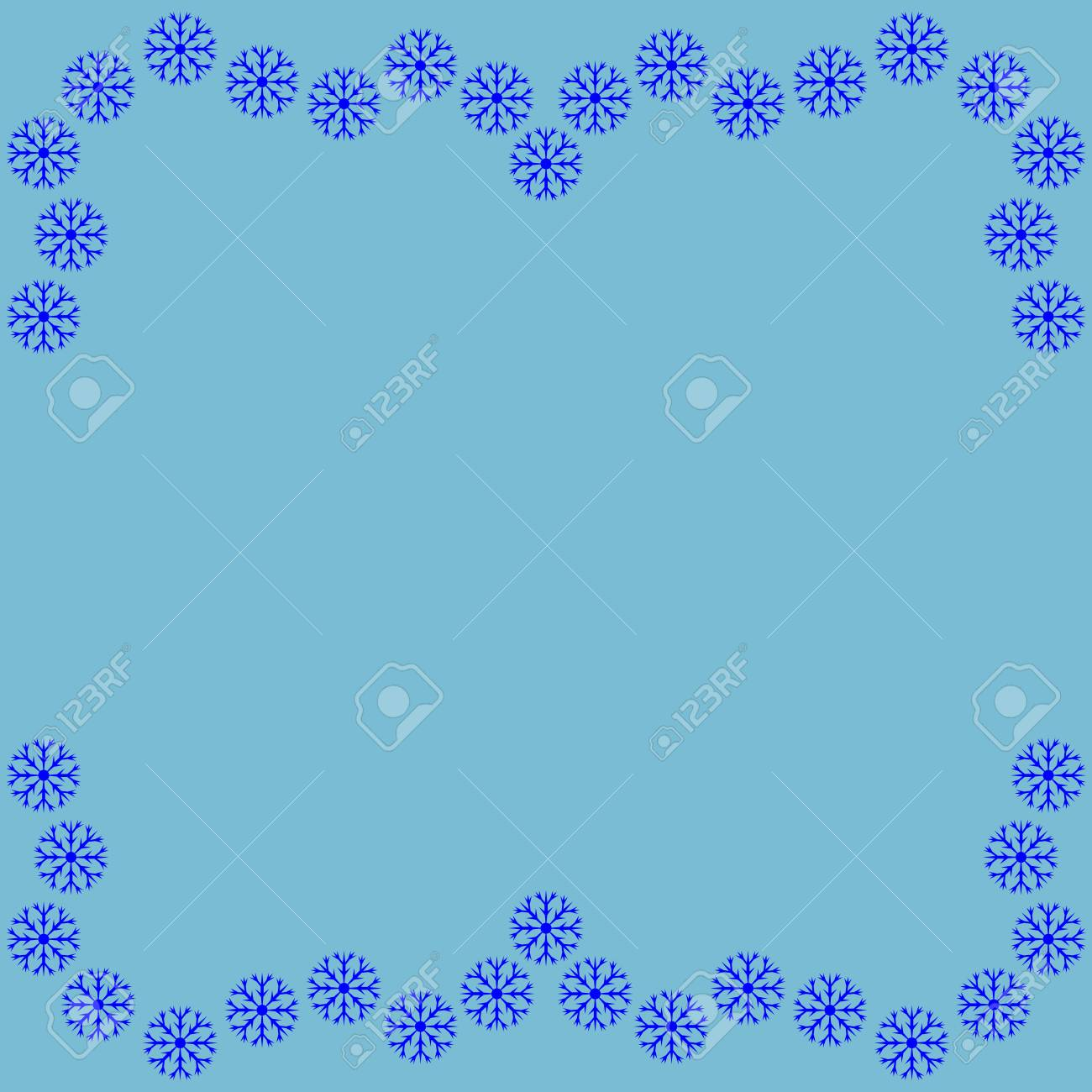 frame with snowflake border decoration winter banner rim decoration new year concept cold
