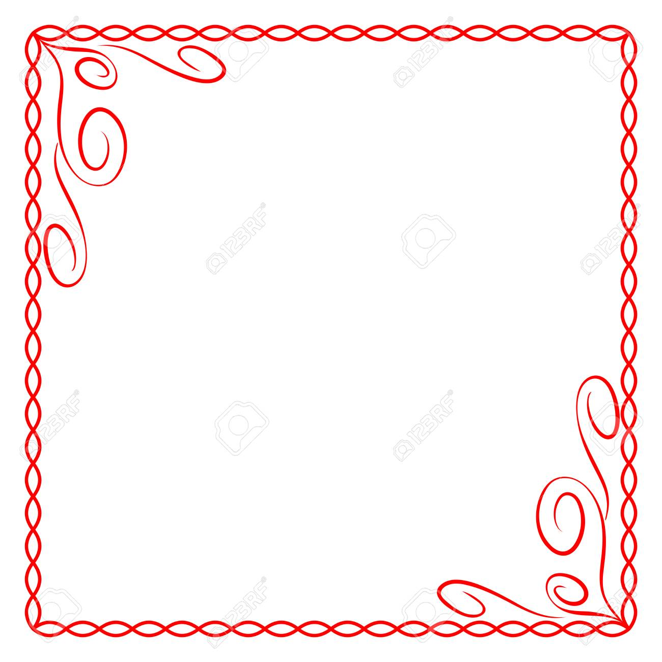 Frame Red. Colorful Framework Isolated On White Background ...