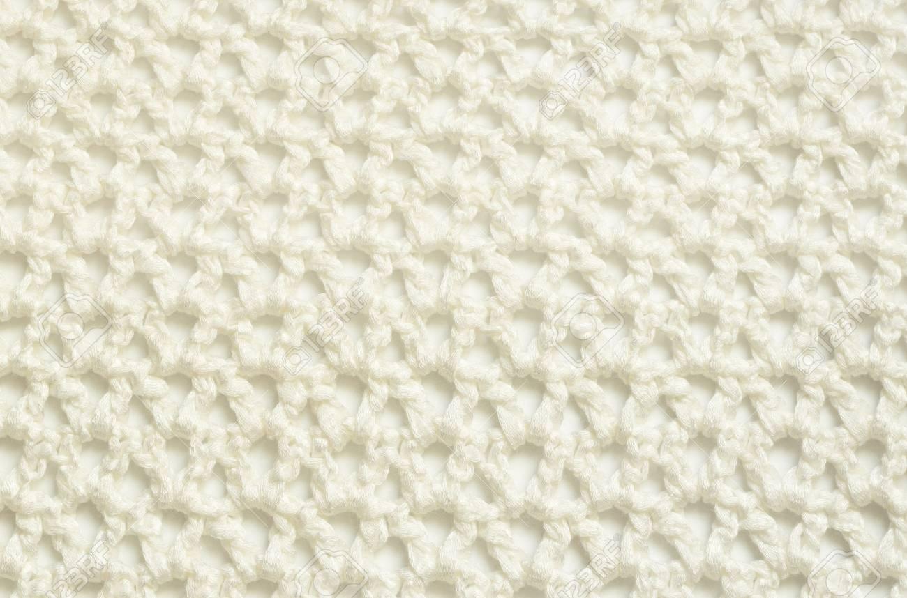 Tejido Crochet Blanco Con Un Patrón De Repetición Fotos, Retratos ...