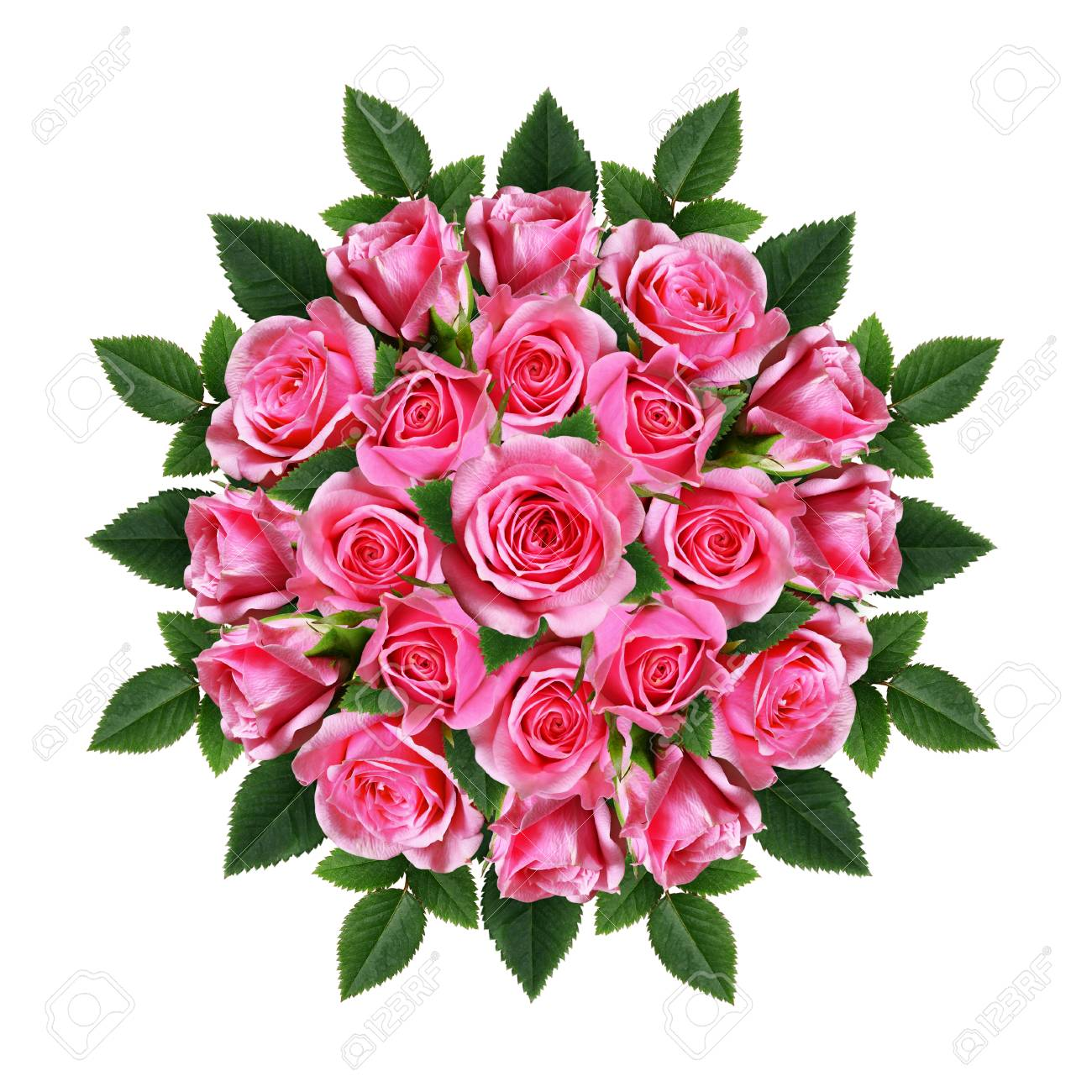 Ordered round bouquet of beautiful pink rose flowers isolated ordered round bouquet of beautiful pink rose flowers isolated on white stock photo 78599956 izmirmasajfo