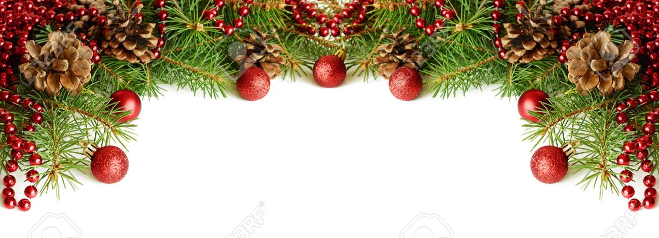 new year decorations on white background for header or holiday card stock photo 87652245