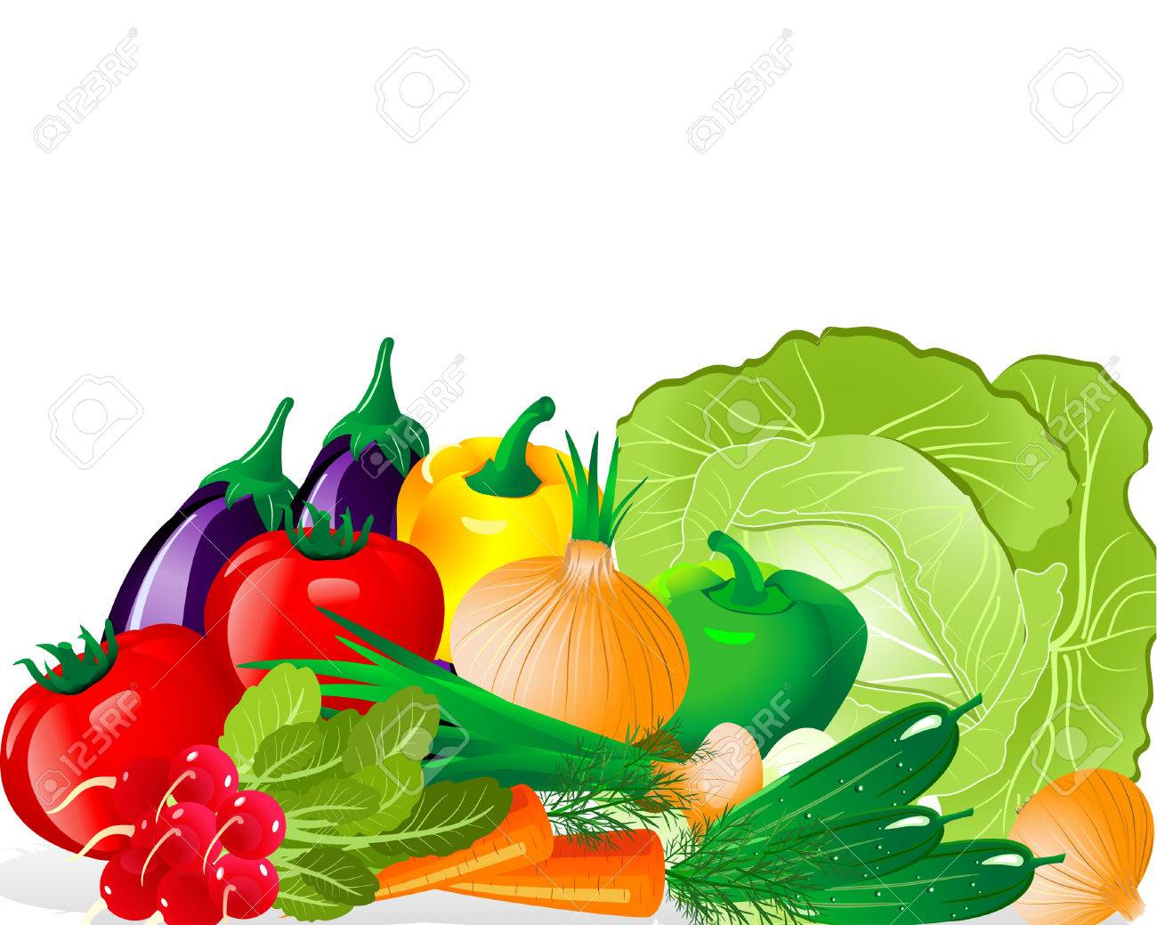Vegetable set Stock Vector - 6513999