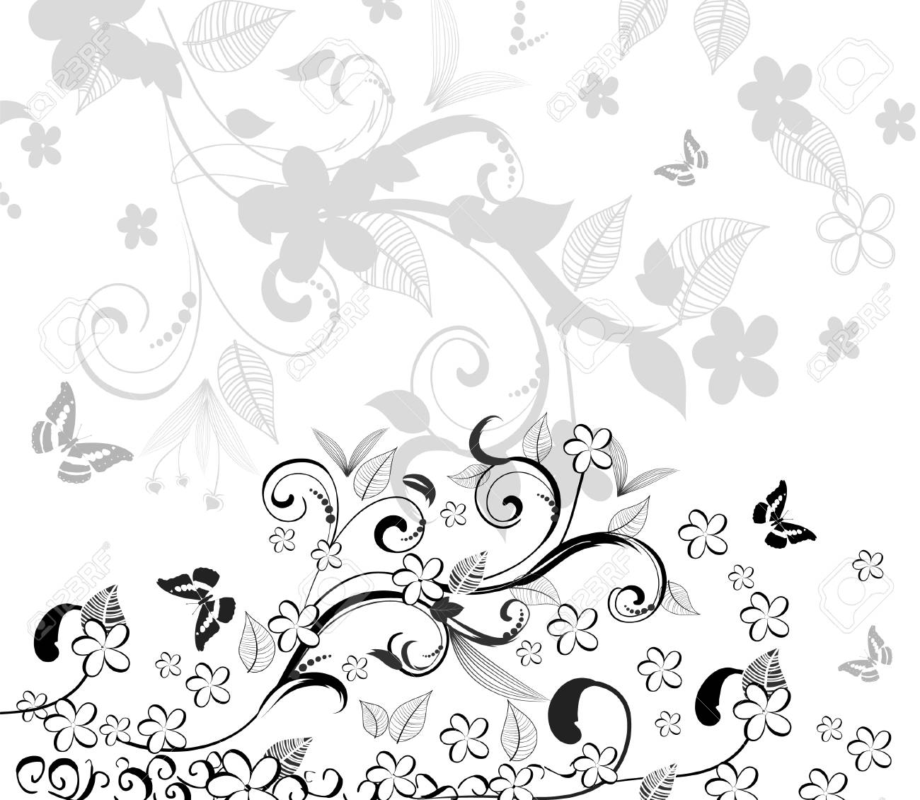abstract floral pattern Stock Vector - 7111226