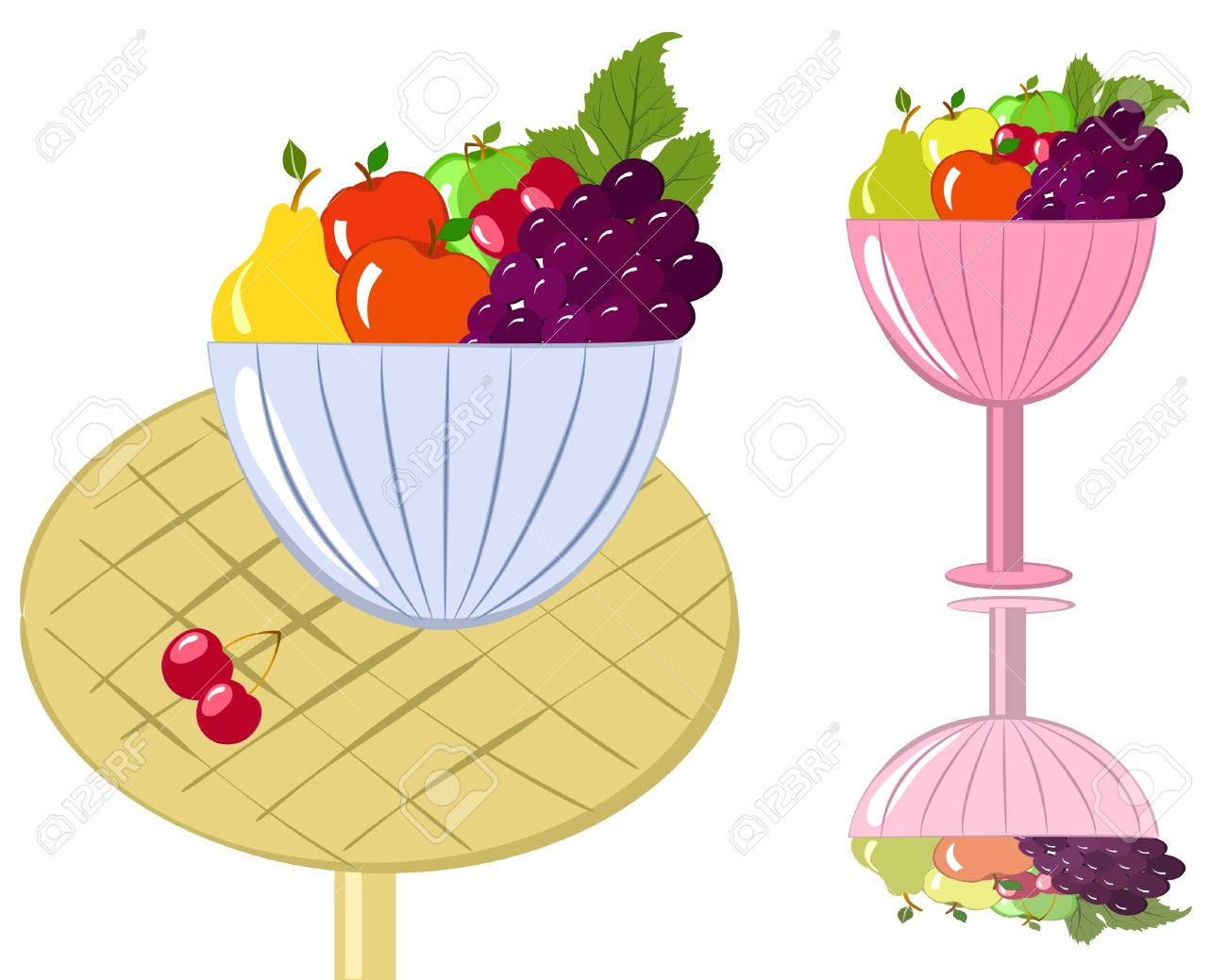 bowl of fruit Stock Vector - 7151212