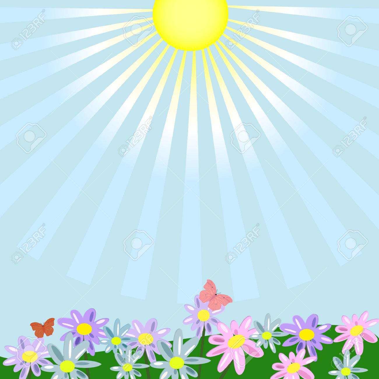 floral landscape Stock Vector - 7485193