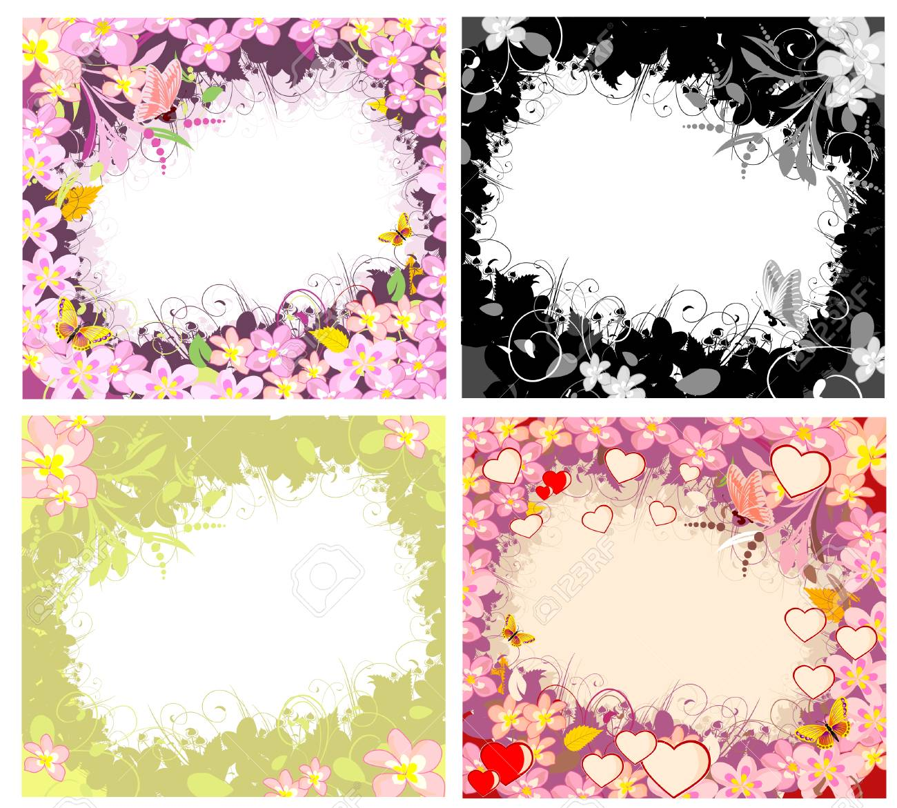 Flower romantic framework Stock Vector - 7637081