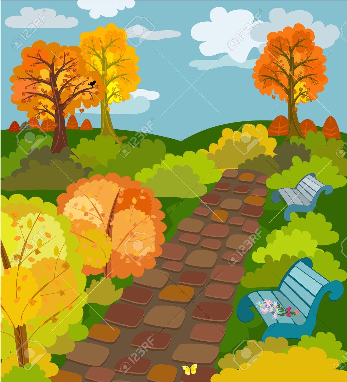 Autumn Park Stock Vector - 7718411