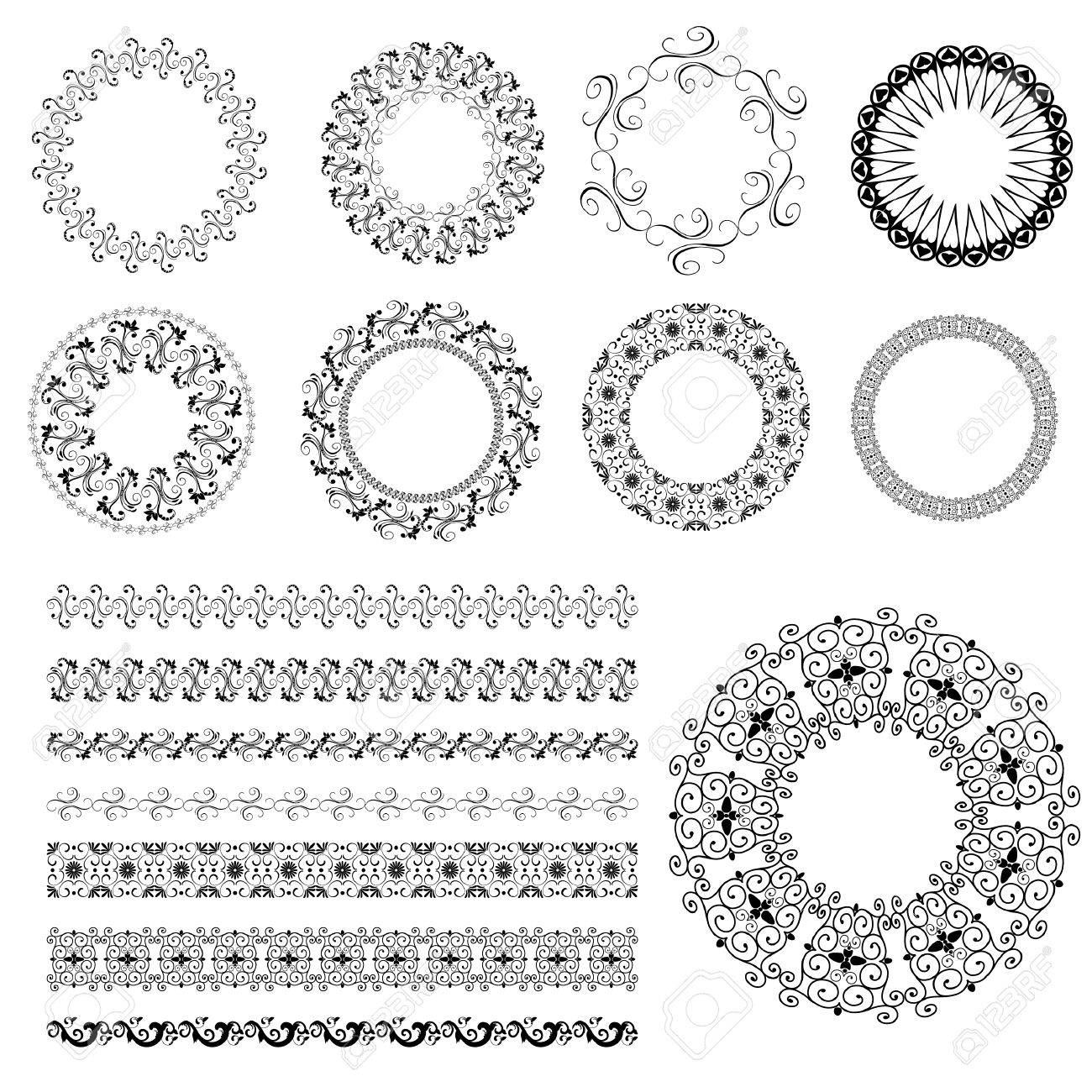 set pattern arabesque Stock Vector - 7718436
