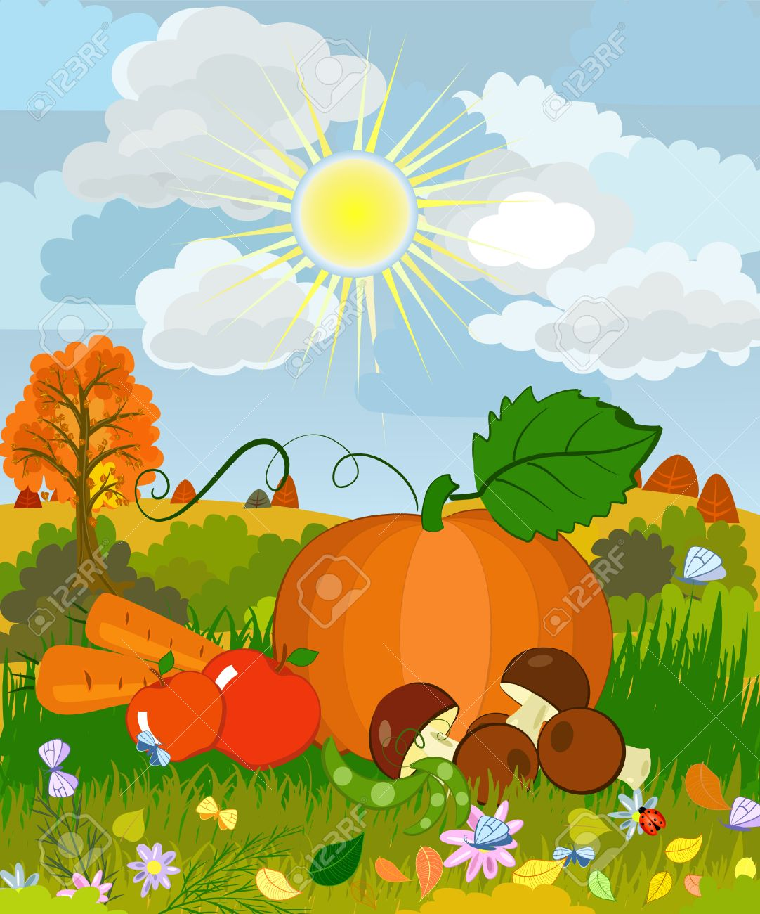 harvest on the grass Stock Vector - 7745232