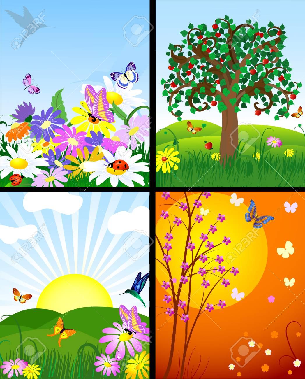 natural landscapes Stock Vector - 7896795