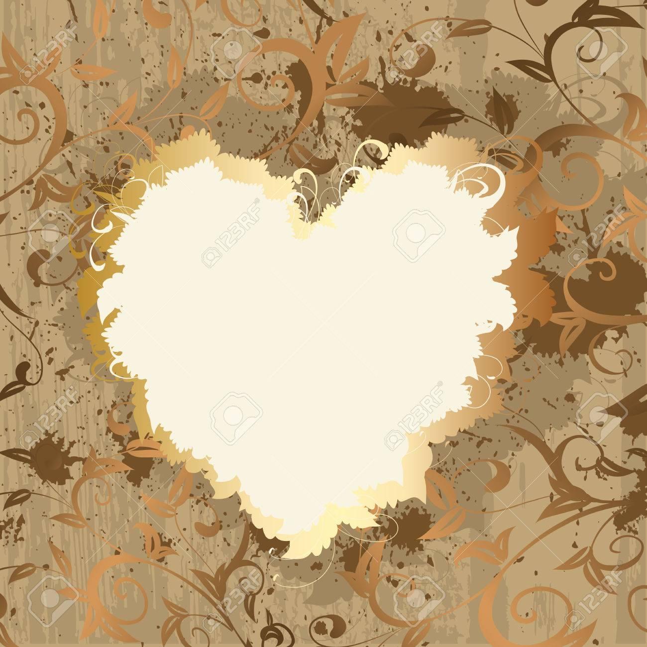 Gold frame valentine Stock Vector - 8568946