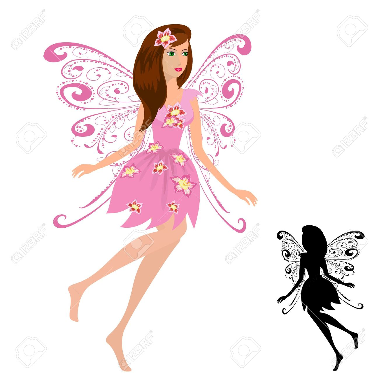 fairy girl with flowers Stock Vector - 9287024