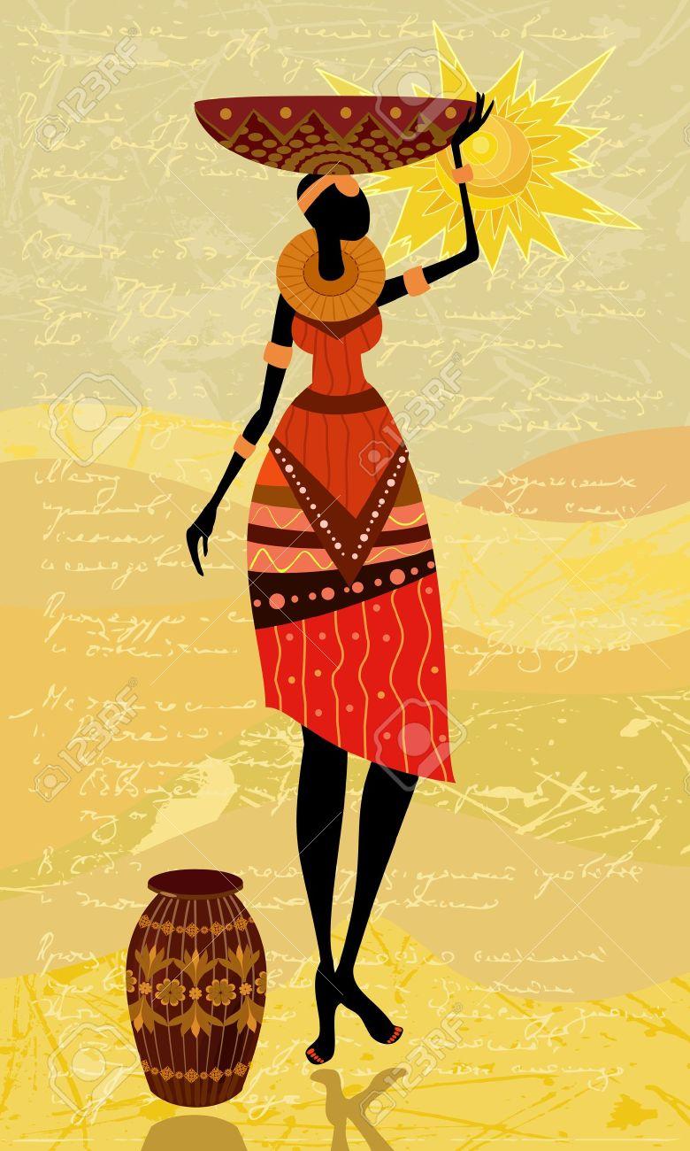 native African women Stock Vector - 9829086