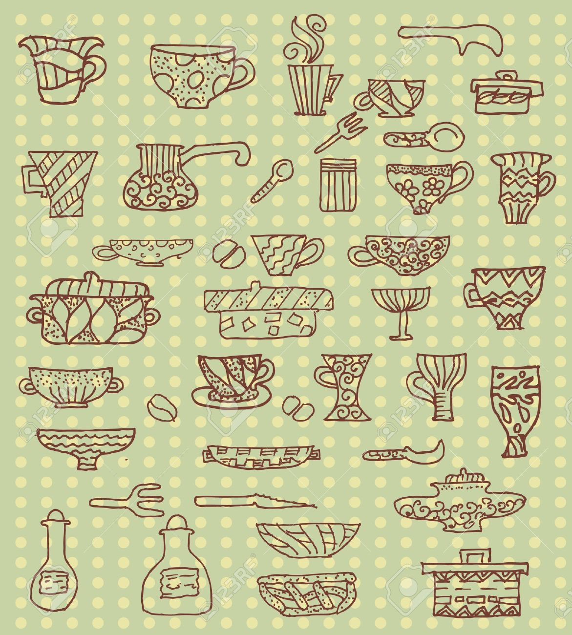Kitchen Utensils Background kitchen utensils background royalty free cliparts, vectors, and
