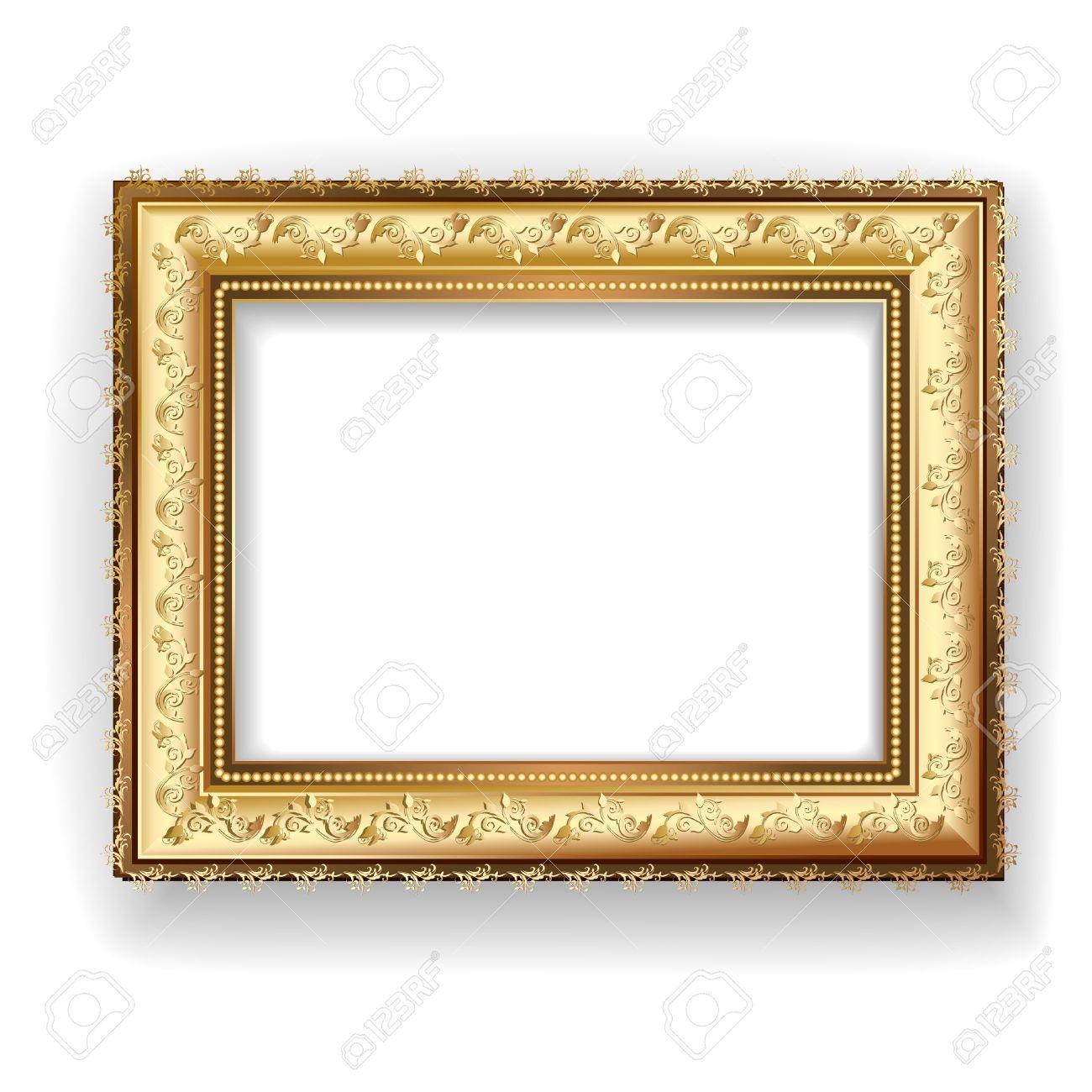 Vintage Wooden Frame Clipart Picture Frame Wooden Vintage