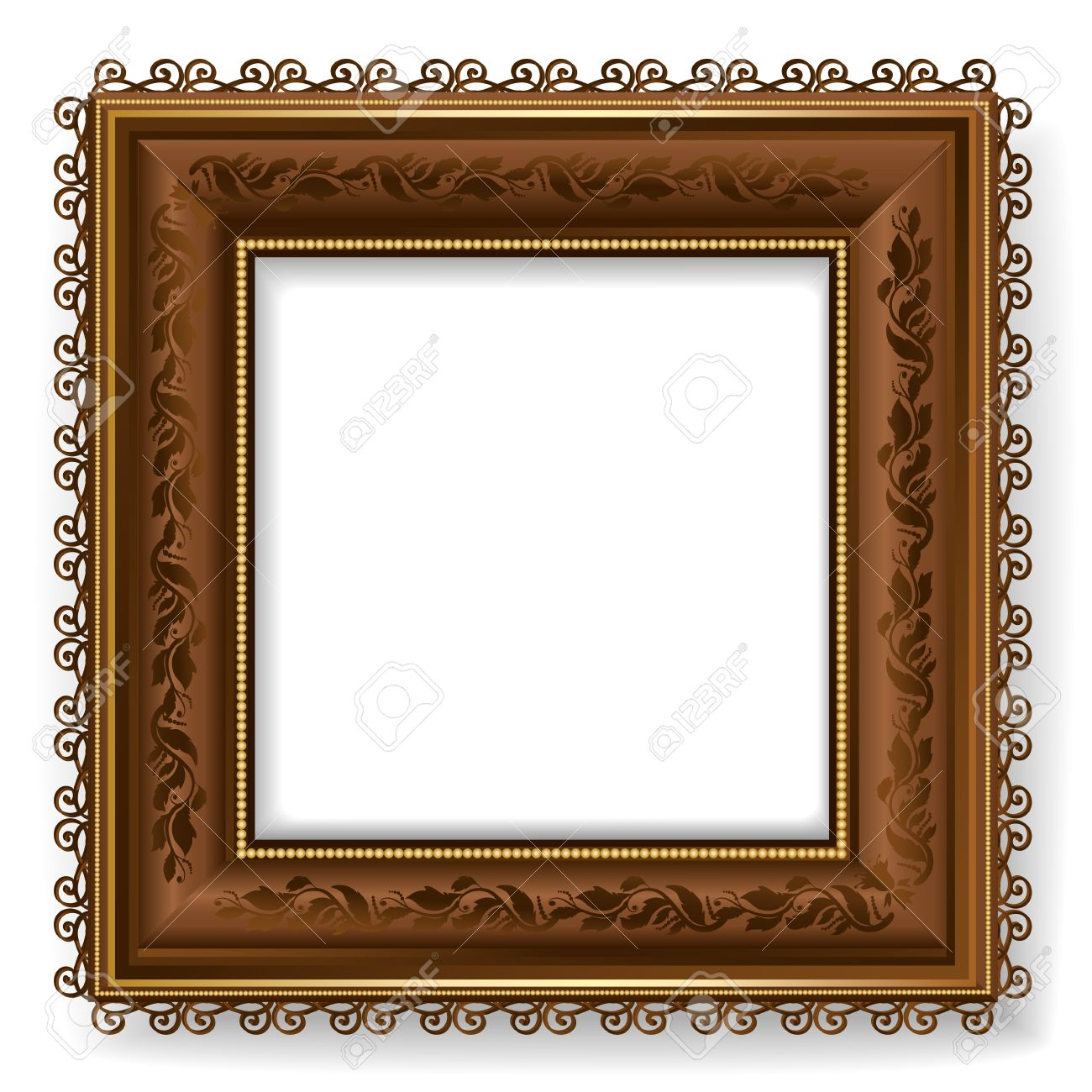 Superieur Retro Vintage Wooden Frame Stock Vector   12344667