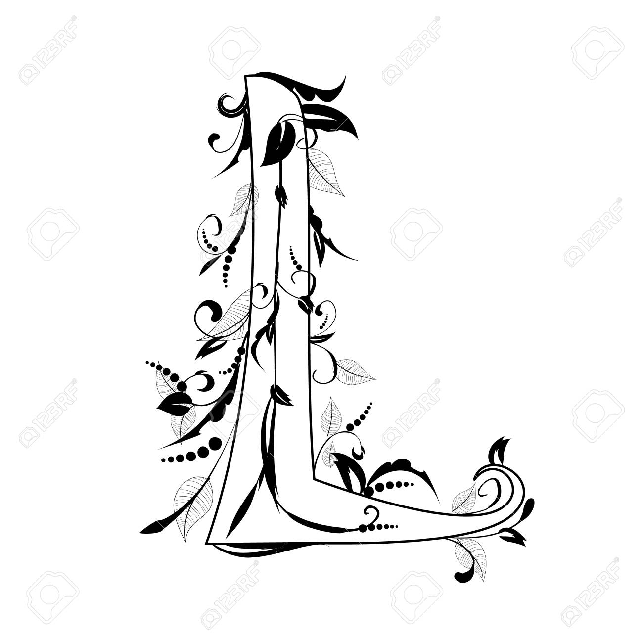 letter of the foliage Stock Vector - 12748939