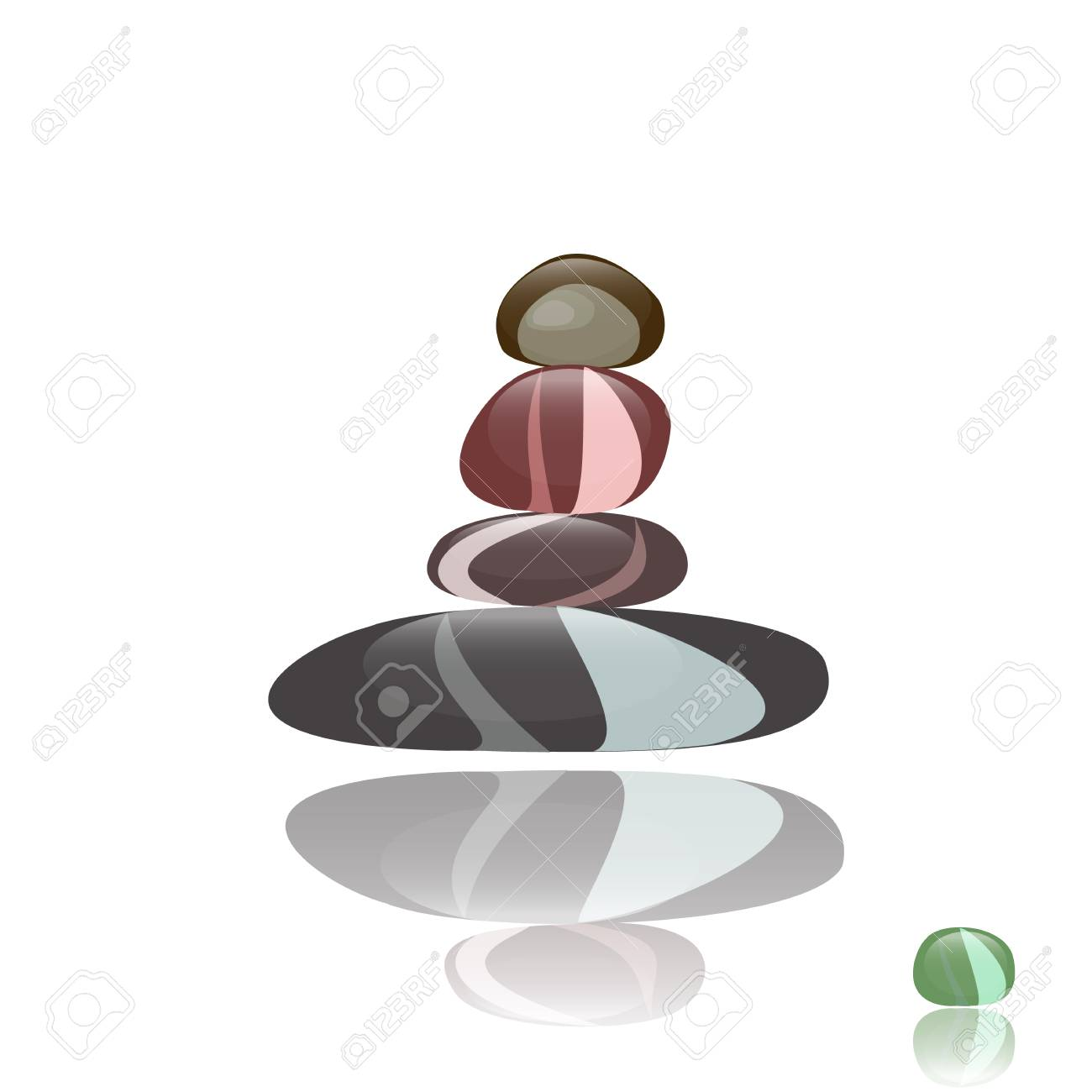 clean shiny stones for a spa Stock Vector - 13401769