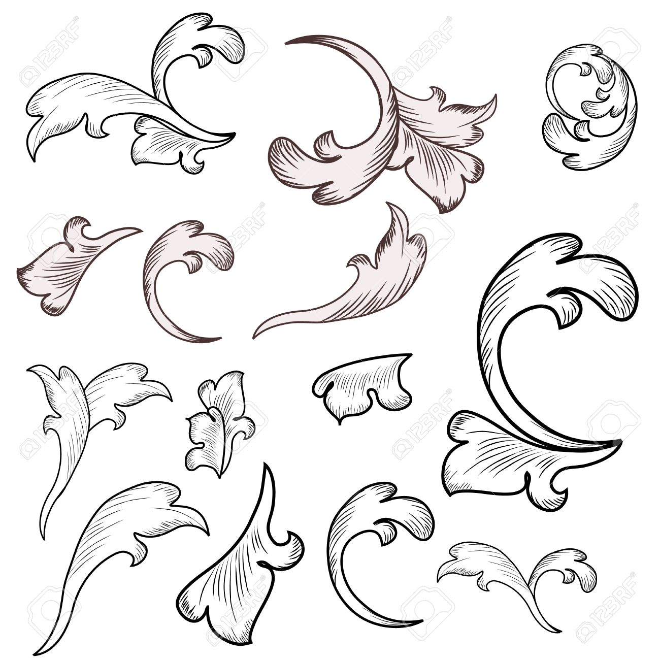 Victorian Design Elements baroque design elements royalty free cliparts, vectors, and stock