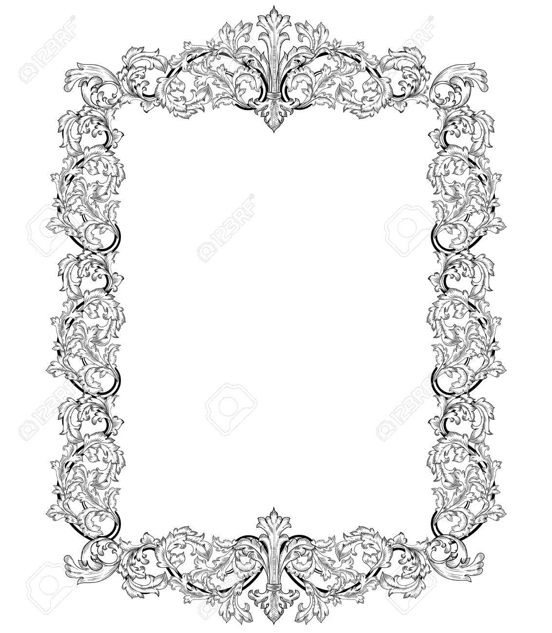 Vintage frame in style baroque Stock Vector - 17009791