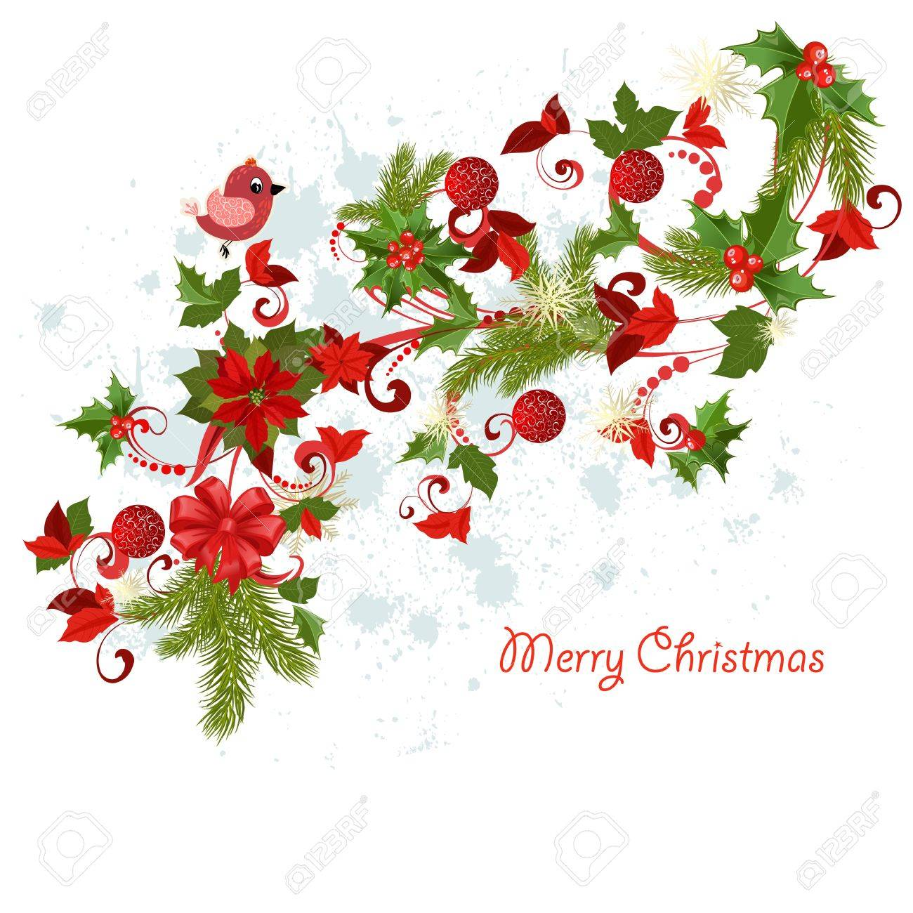 Design a Christmas greeting card Stock Vector - 17009790