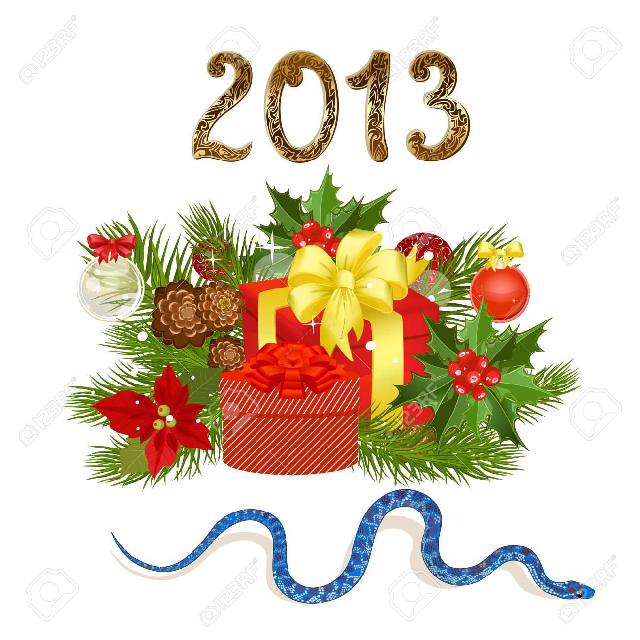 Holiday symbols 2013 Stock Vector - 17009762