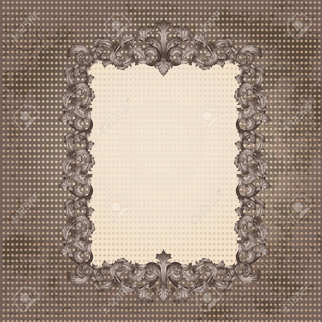 Vintage frame for your design Stock Vector - 17086819