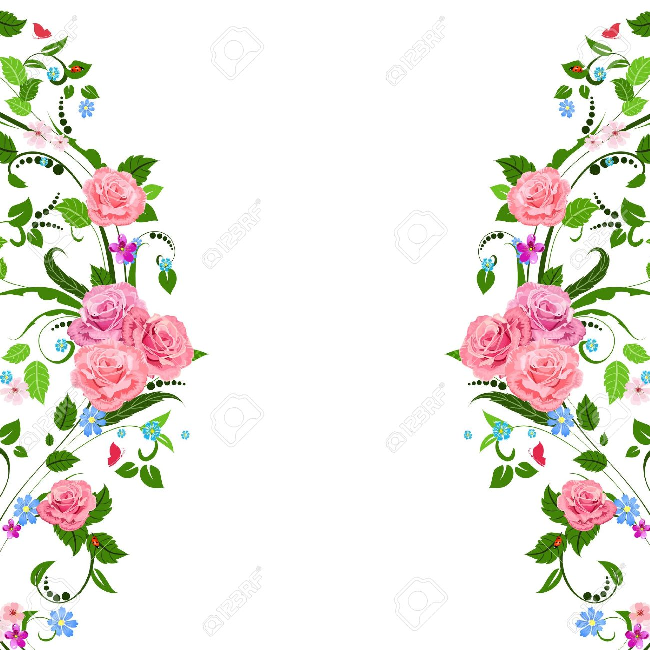 Vintage Floral Pattern Royalty Free Cliparts Vectors And Stock