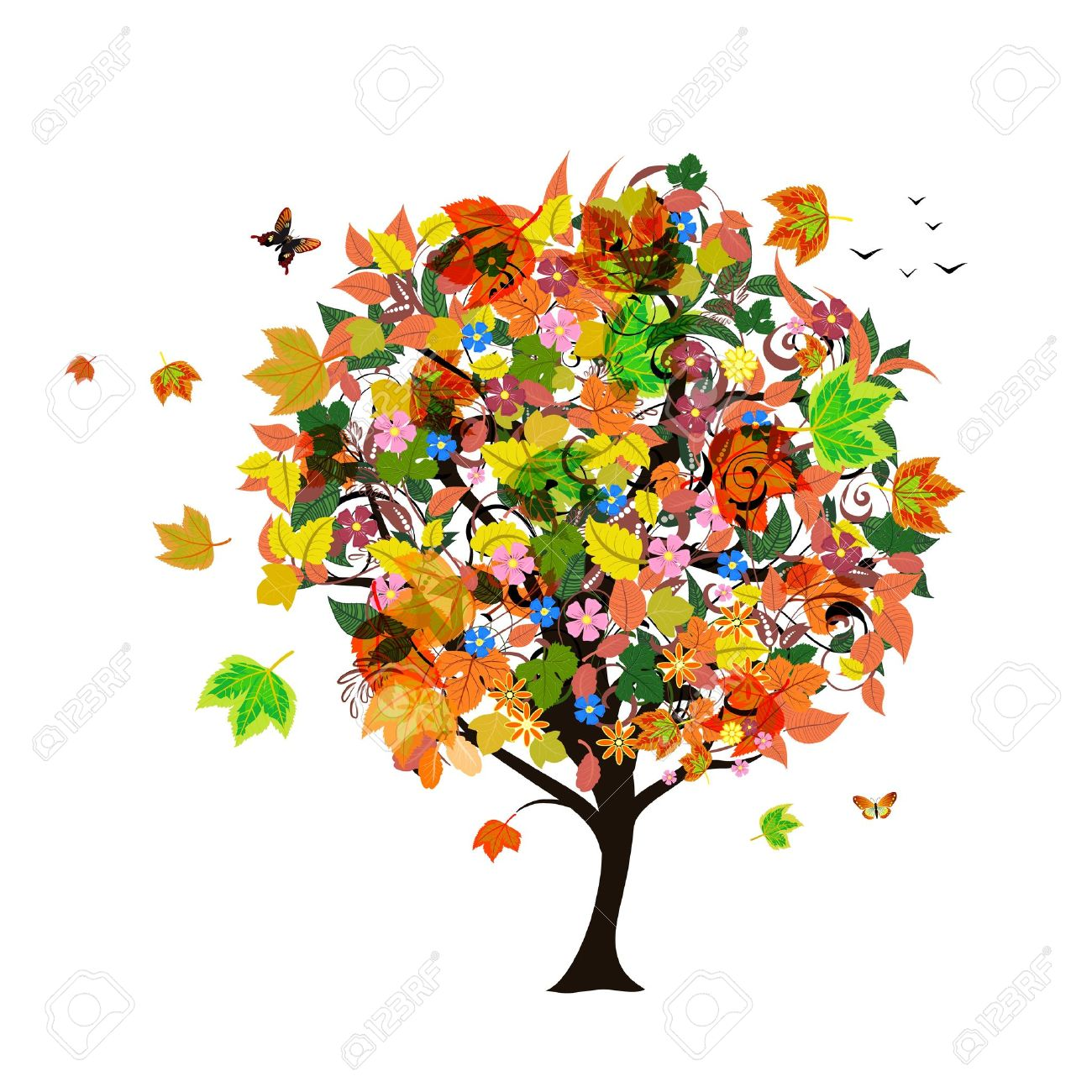 Autumn abstract tree Stock Vector - 20940885