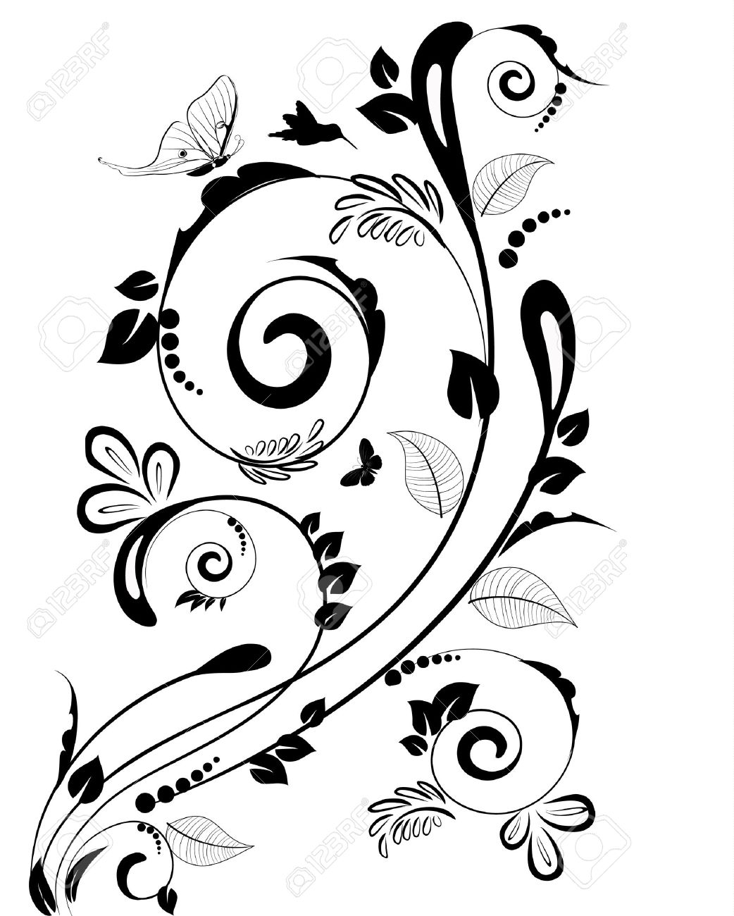 Vintage Floral Border For Your Design Royalty Free Cliparts Vectors