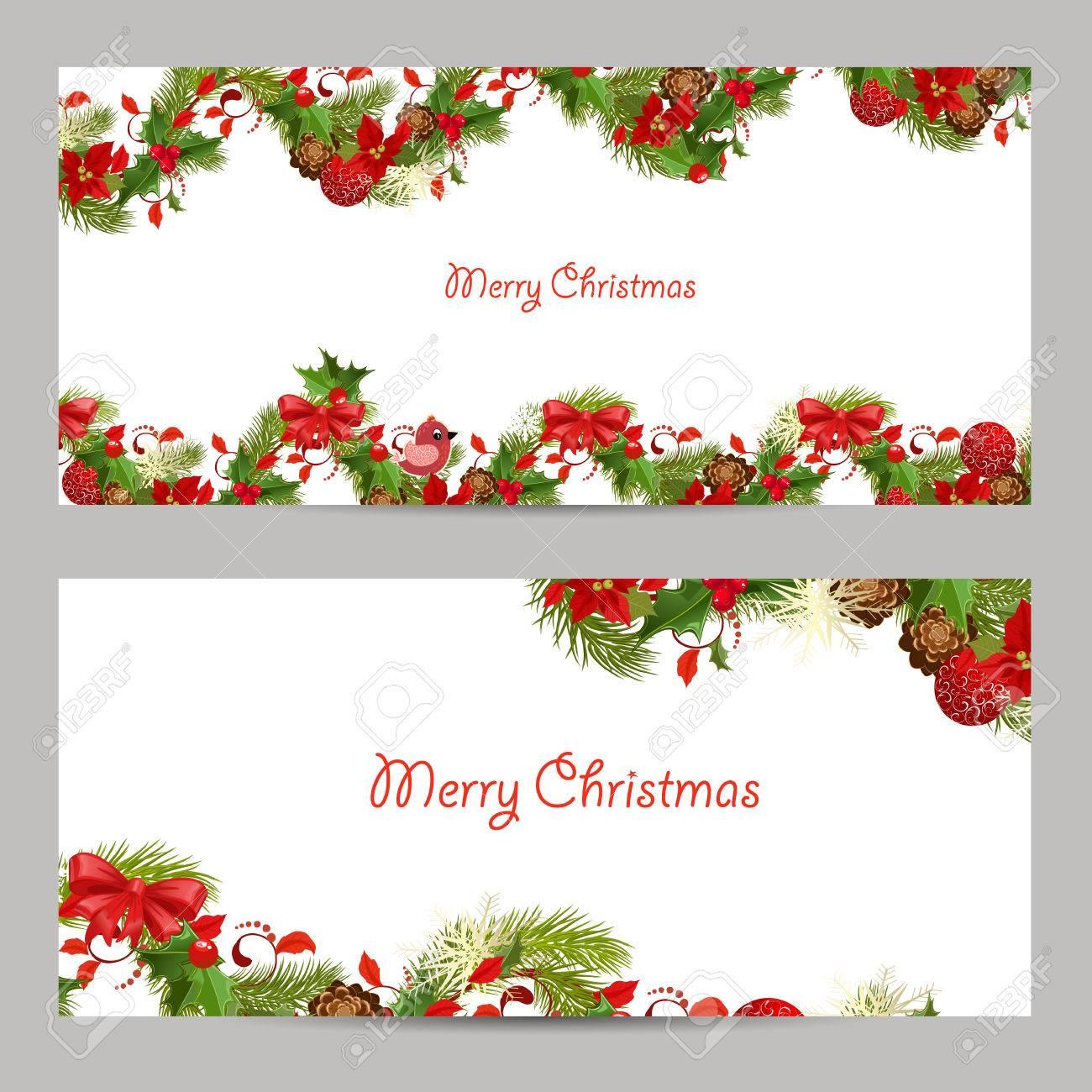 Navidad Conjunto Tarjetas De Invitación Para Su Diseño