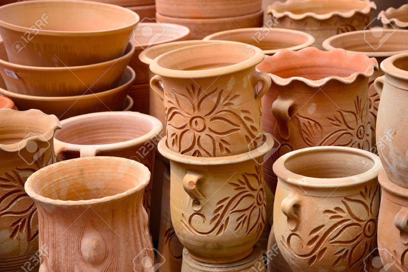 Cute potteries vases and pots for plant flowers stock photo cute potteries vases and pots for plant flowers stock photo 45657702 reviewsmspy