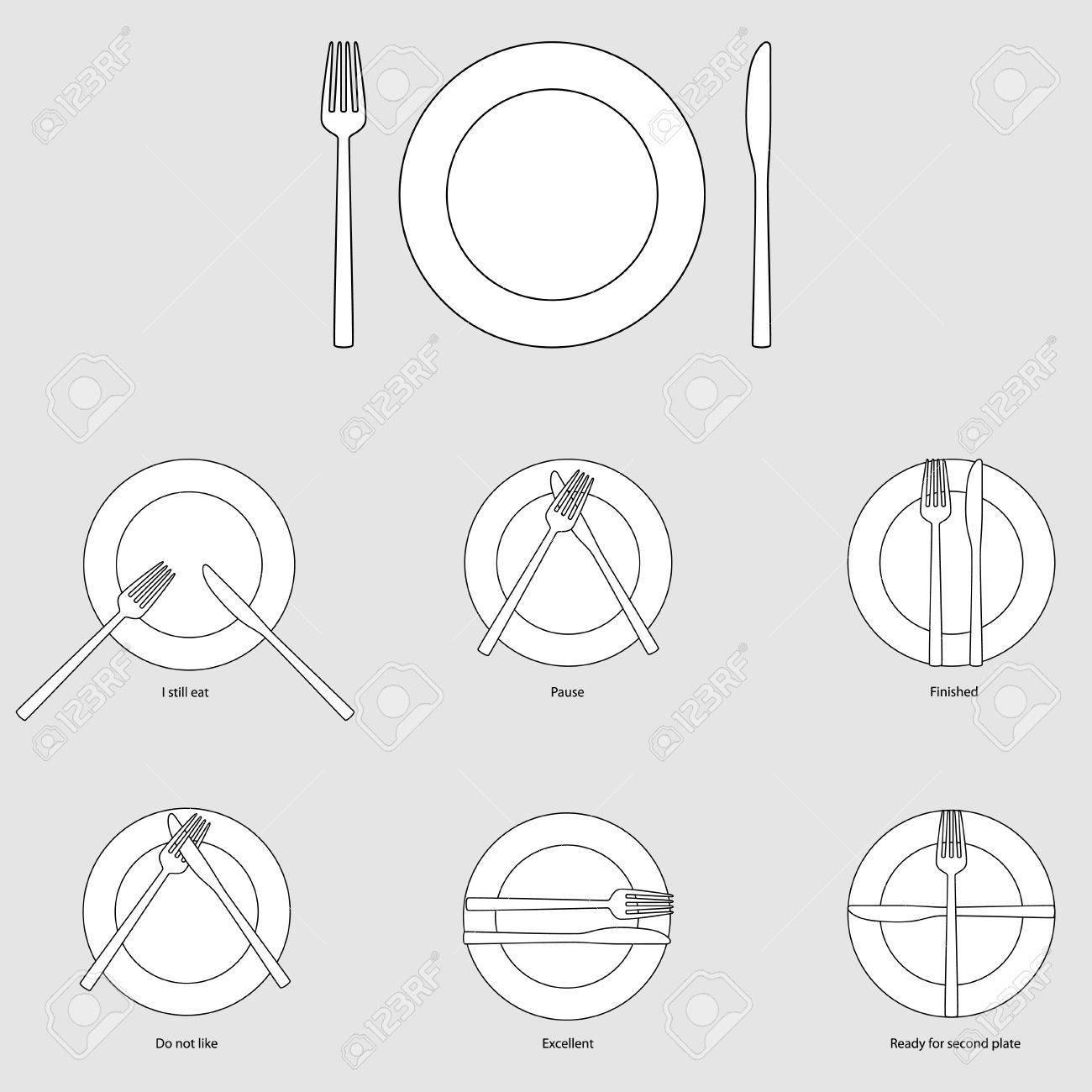 Table etiquette vector illustration Stock Vector - 53802996  sc 1 st  123RF.com : table atticates  - Aeropaca.Org
