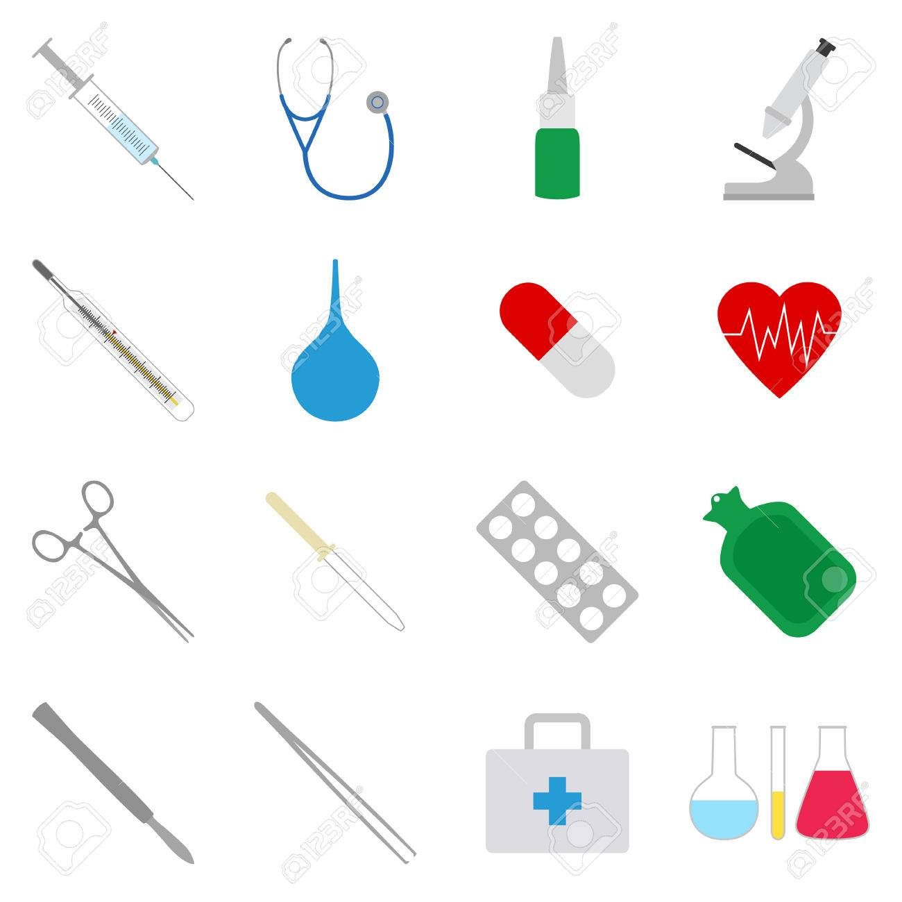 Set of medical icons, vector illustration - 64574894