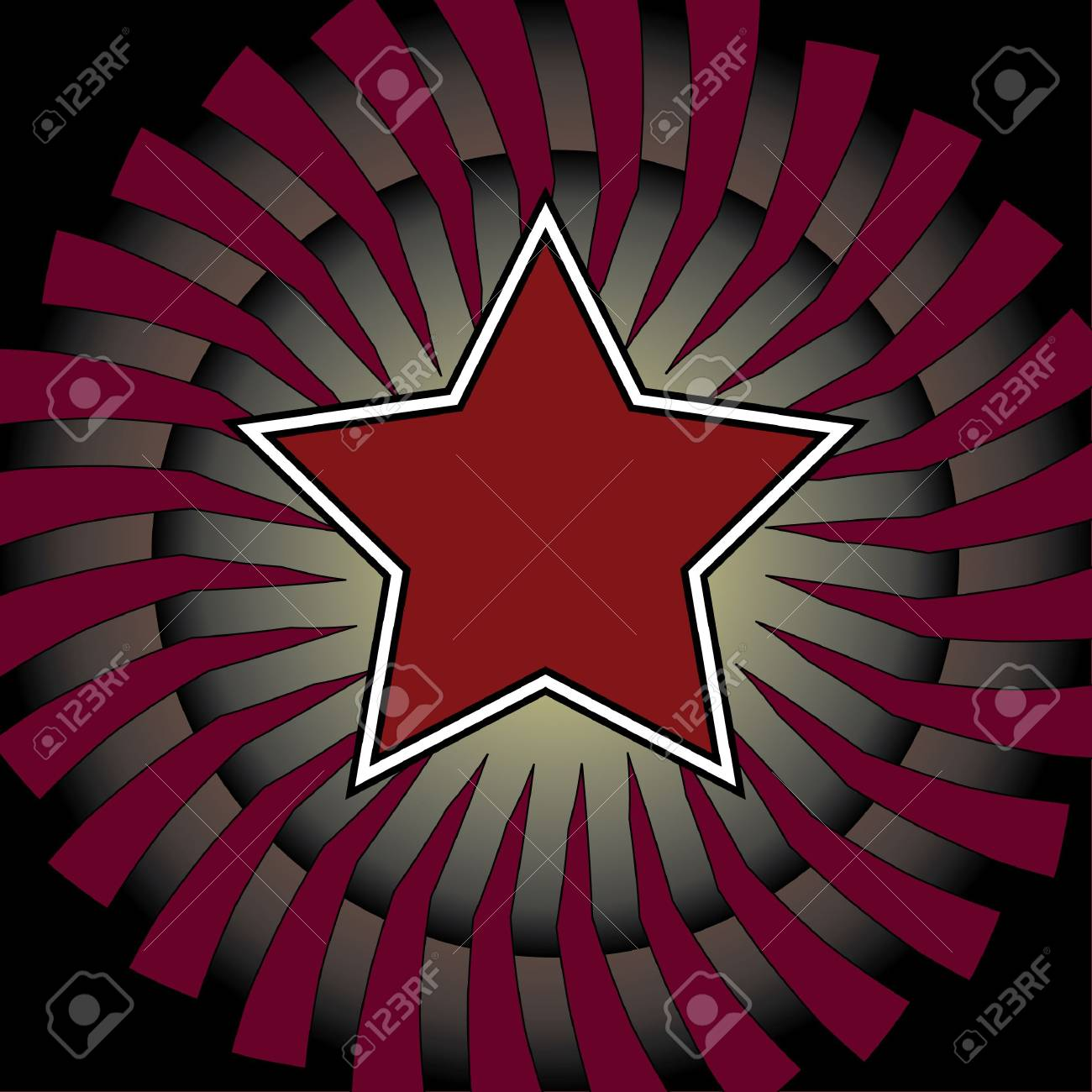 A spiral and star based square background design Stock Photo - 4499614