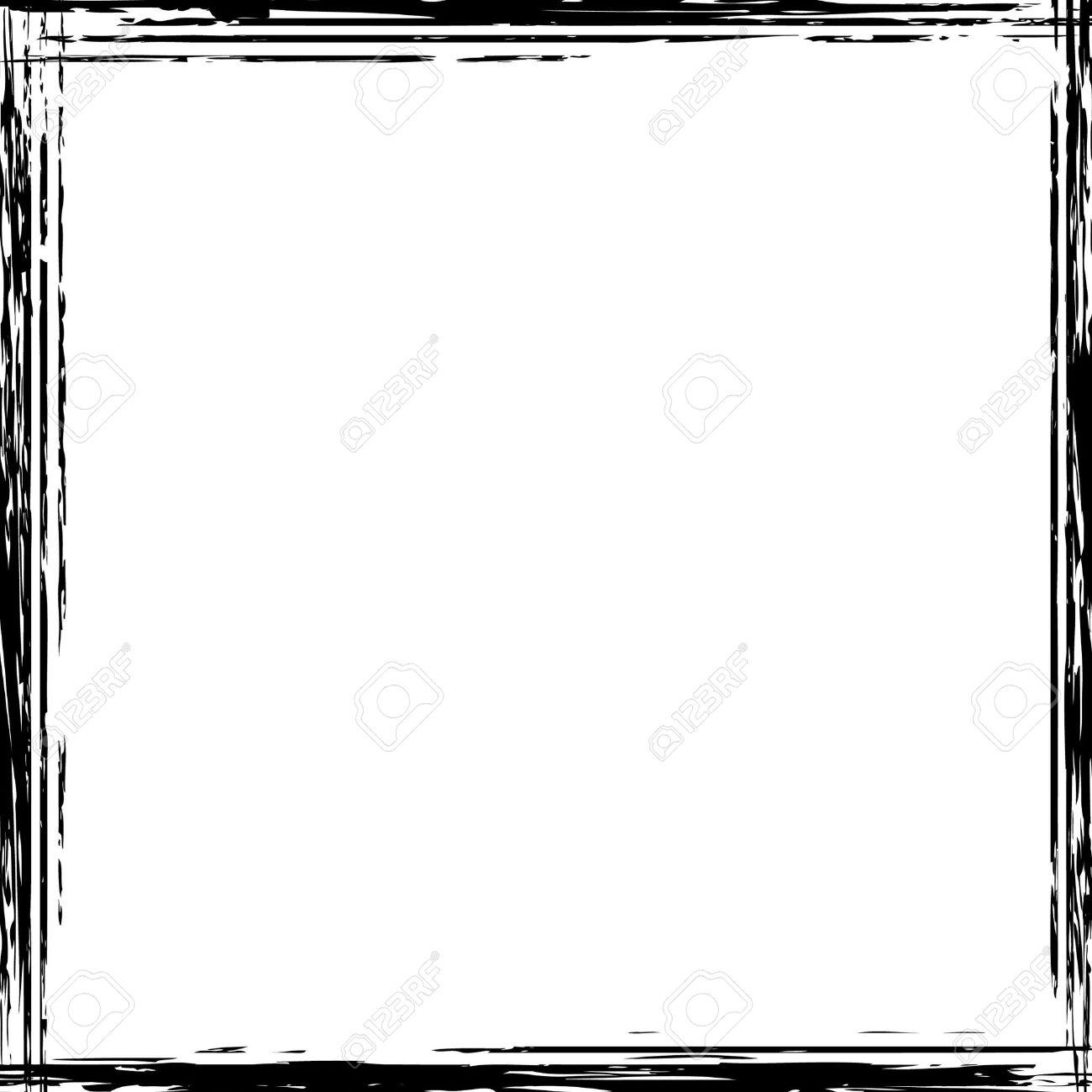 square black frame. Exellent Frame A Grunge Square Border In Black And White Stock Photo  4499608 And Square Black Frame I