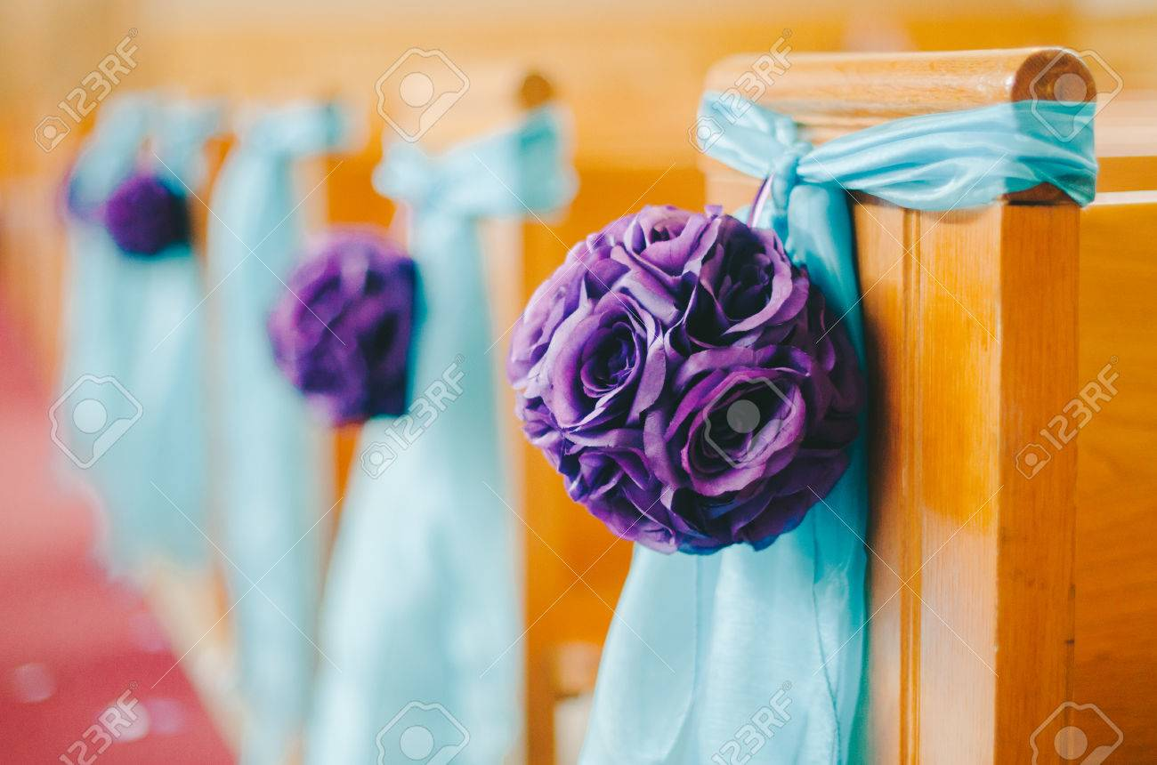 Purple Aqua DIY Wedding Decorations Stock Photo, Picture And Royalty ...
