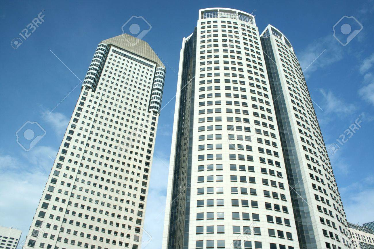 Modern Office Building in Singapore Stock Photo - 5637361
