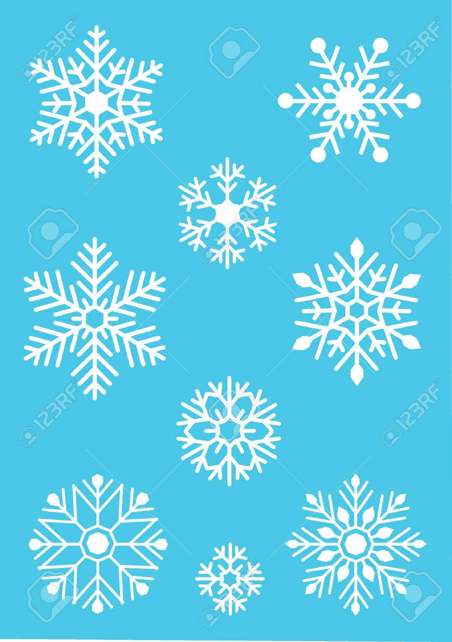 White snowflake on blue background Stock Vector - 8371080
