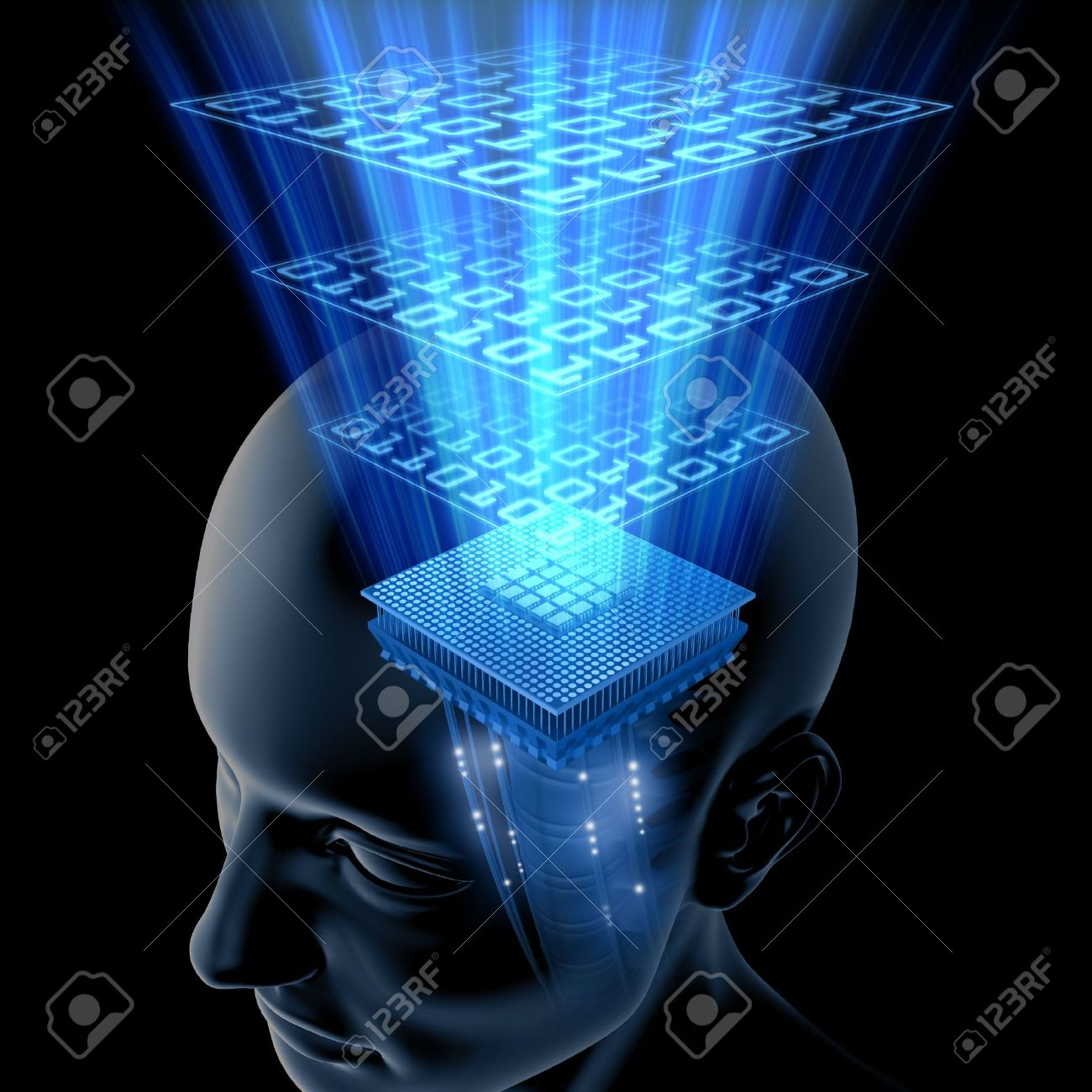 The Brain is Thinking (Processor) Stock Photo - 1358561