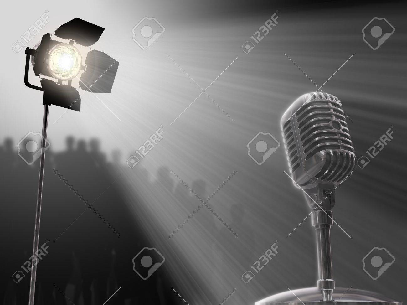A very important person's concept. A person will speak, she can be the boss of a company, the president, a celebrity, a singer, etc. Stock Photo - 1385628